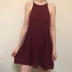 Silence & Noise Soft Maroon Dress Size Small